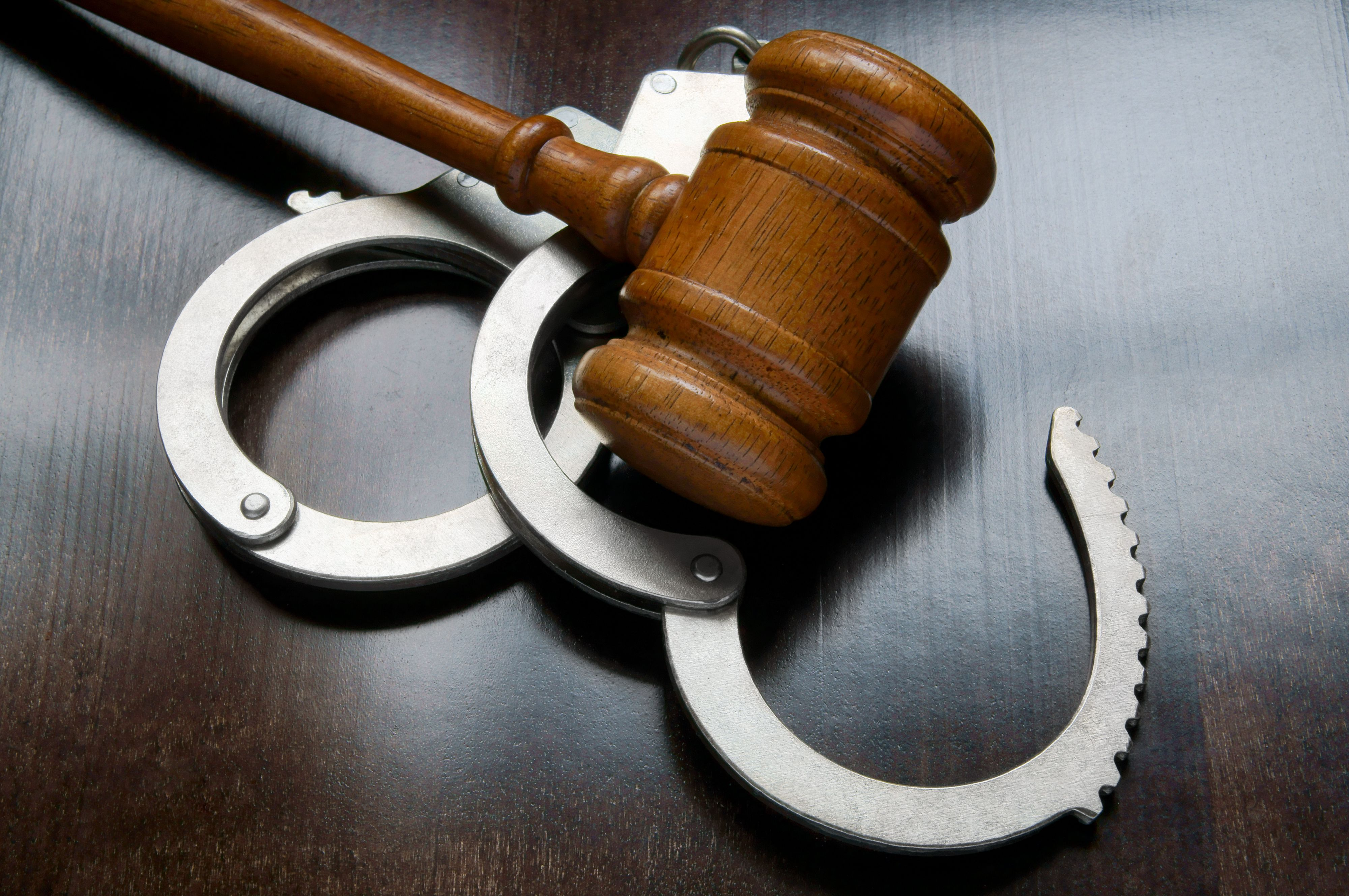 Gavel and handcuffs - misdemeanors in California